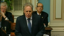 Premier Jean Charest rises in the National Assembly to support Bill 115 (Oct. 18, 2010)