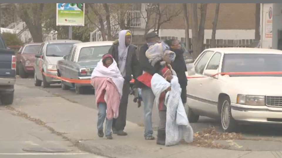 About 100 people were evacuated from their homes Thursday morning after a suspicious package was found on Rene Roi Blvd. (Nov. 8, 2012)