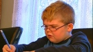 Simon suffers from muscular dystrophy and his mother cannot legally park in a handicapped spot because they only have one permit.