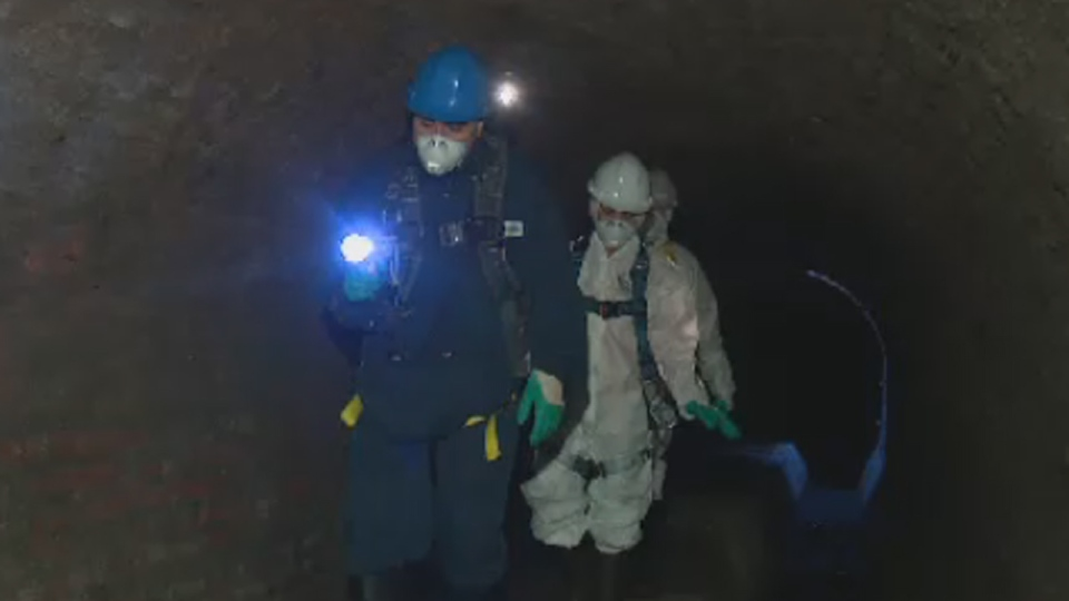 CTV Montreal reporters dive into the sewers of the city.