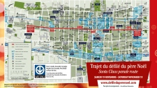 Santa Claus parade route for Montreal