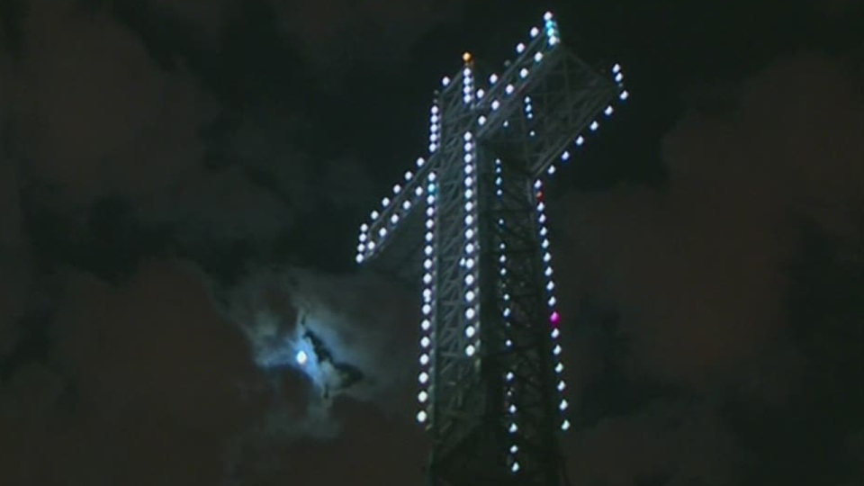 The Cross atop Mount Royal was installed in 1924 by the Societé St-Jean Baptiste.