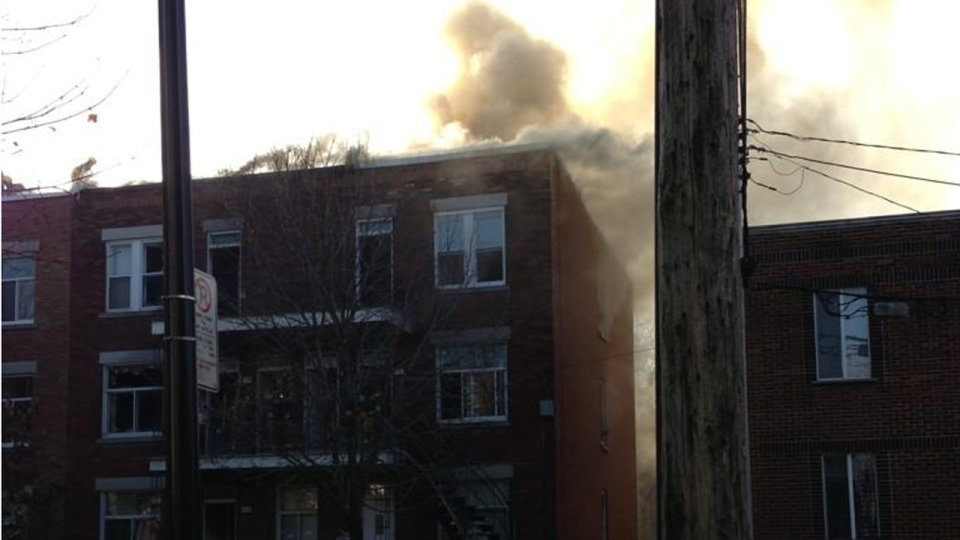 Matthew Stephen took this photo of a fire at 926 Osborne St. in Verdun (Nov. 21, 2012)