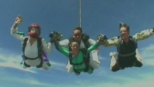 Skydiver Benoit Lemay and his family