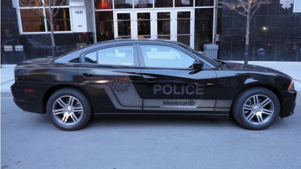 Montreal police black Dodge Charger