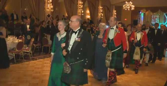 Ball gowns and kilts are de rigueur at the annual St. Andrew's Society charity ball