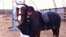Darby Delle Donne, a provincial equestrian champio