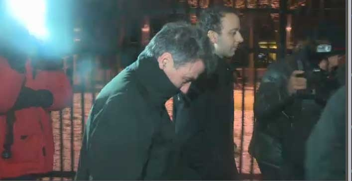SNC-Lavalin's former CEO Pierre Duhaime was greeted by reporters after posting bail in November 2012