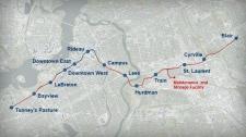 Ottawa LRT route