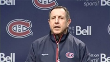 The usually-staid Habs head coach Jacques Martin showed he was not a happy man after practice Tuesday.