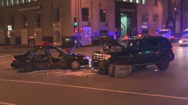 Head-on collision in Montreal