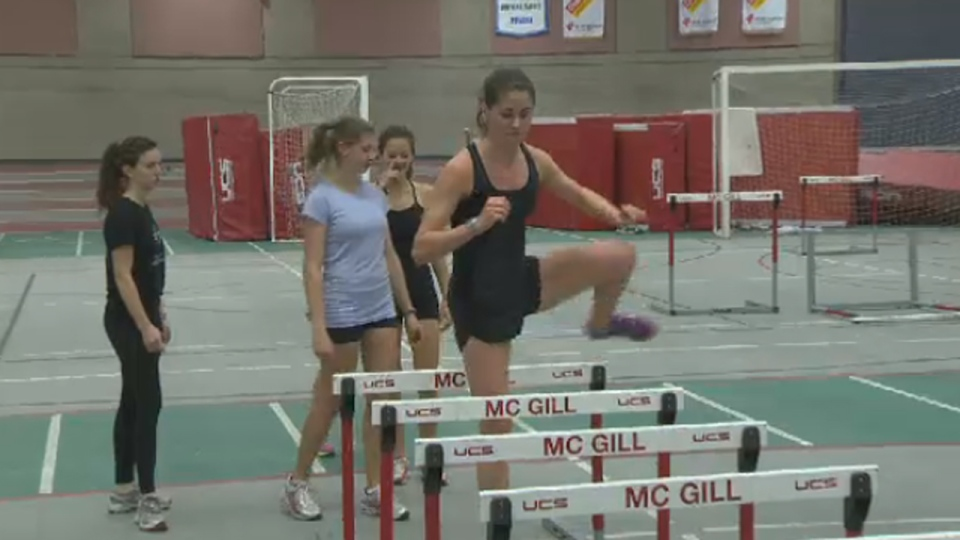 Sarah McCuaig is captain of McGill's track and cross-country teams. Next year she will be heading to Oxford University as a Rhodes Scholar (Dec. 5, 2012)