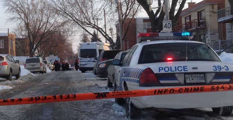 Two men were found dead in a murder-suicide in Montreal North Tuesday. (photo: CTV Montreal / Jason Clarke)