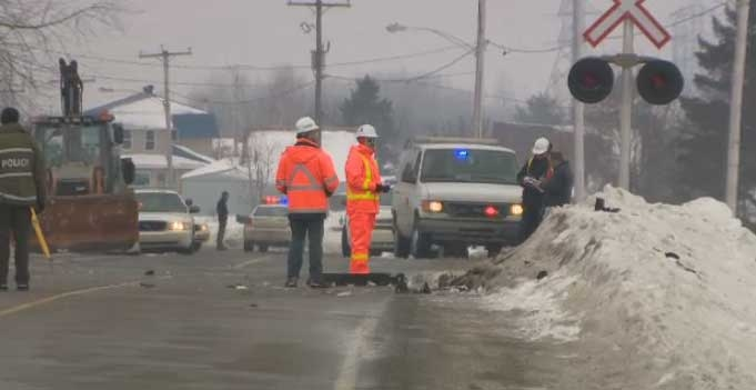 Two people are dead after a crash in Notre-Dame-des-Prairies.