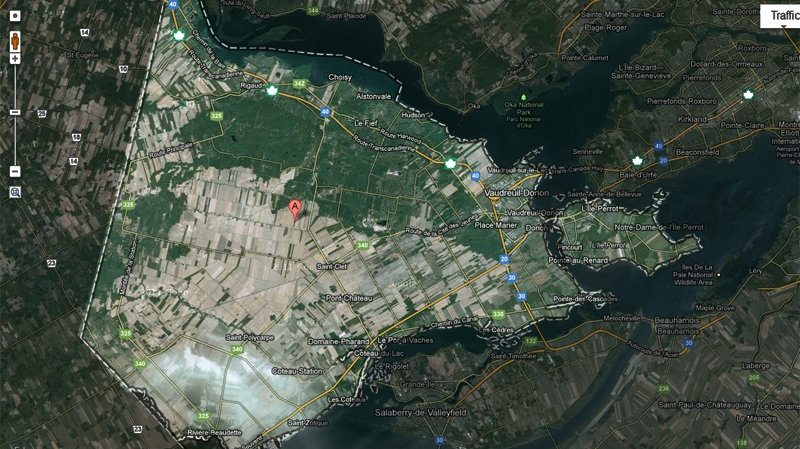The fast-growing area west of Montreal is short on health care facilities. (Image Google Maps).