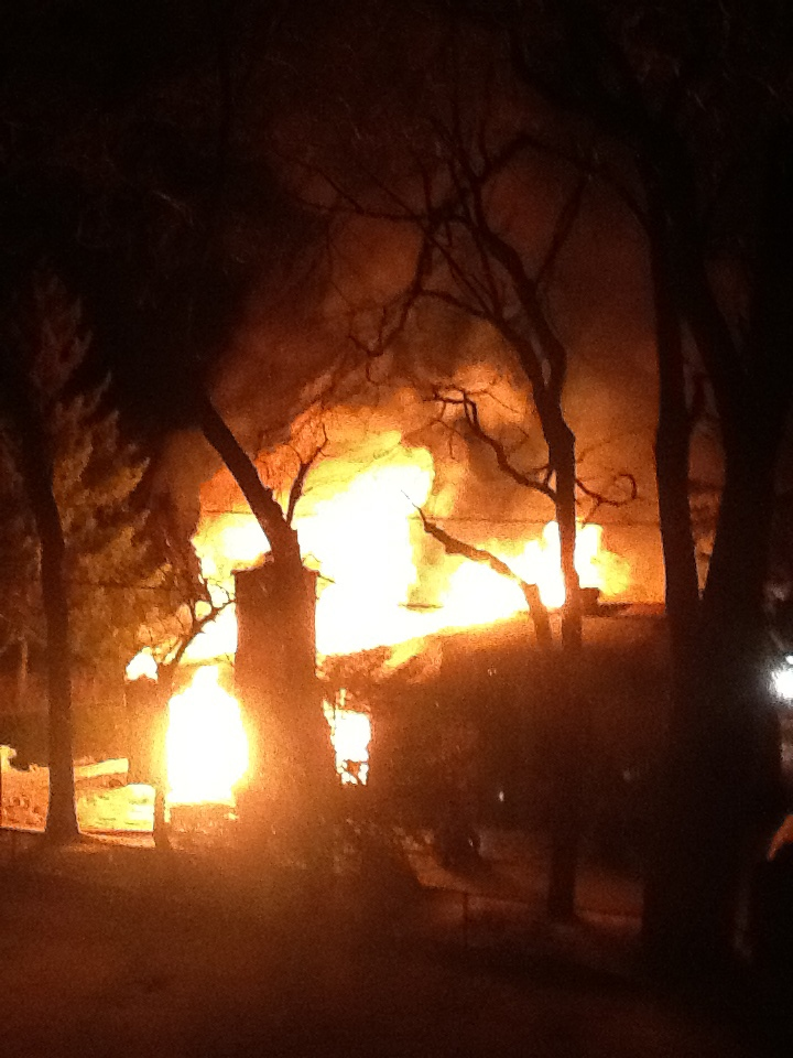 MyNews user Tamara Kido submitted this photo of a deadly fire in Rosemere. The fire killed one person and put a woman in her 80s in hospital. Jan. 16, 2013