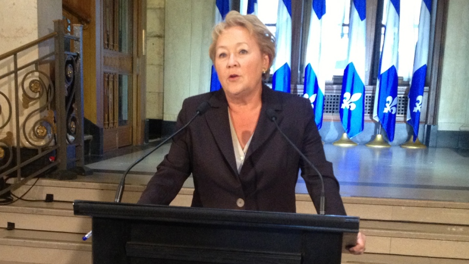 Pauline Marois is heading to Scotland to meet with members of a separatist party who will be holding a referendum in 2014. (CTV Montreal/Fred Bissonnette. Jan. 22, 2013)