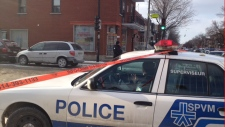 Montreal police at scene of stabbing