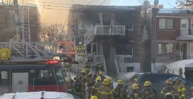 One person is dead following a fire in Saint-Michel.