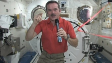 Shatner Hadfield talk from space