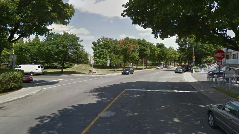 Provencher near Colbert, seen here in a Google Street View image, was the scene of a fatal accident Thursday evening, as a car skidded into a lamppost, killing the 24-year-old driver.