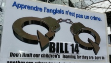 handcuffs anti-bill 14 protest