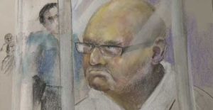 Richard Bain as seen in a courtroom sketch.