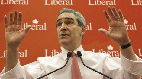 Leader of the Liberal Party Michael Ignatieff gestures during his speech at the Liberal National Caucus and Candidates Meeting on Parliament Hill in Ottawa on Tuesday, January 25, 2011. (THE CANADIAN PRESS/Pawel Dwulit)