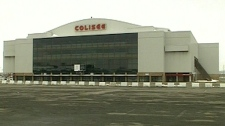 The NHL has said the existing Colisee, former home of the Nordiques, is too small for the league. (Feb. 10, 2011)