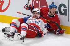 Moen of Canadiens and Hillen of Capitals
