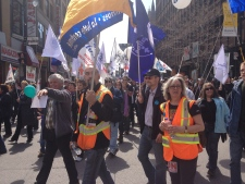 Montreal protest over EI reform
