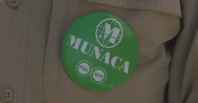 McGill union group MUNACA took part in a May Day protest against budget cuts.