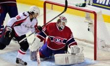 Washington Capitals' Marcus Johansson scores past Montreal Canadiens goalie Carey Price during third period. (March 15, 2011)