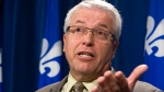 Ex-Coalition Avenir Québec MNA Daniel Ratthe speaks at a news conference at the Quebec legislature Tuesday, May 21, 2013. THE CANADIAN PRESS/Clement Allard