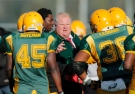 Toronto Mayor Rob Ford speaks to his Don Bosco Eagles team during the Metro Bowl quarter-final at Birchmount Park in Toronto, Thursday, Nov. 15, 2012. (Christopher Drost / THE CANADIAN PRESS)
