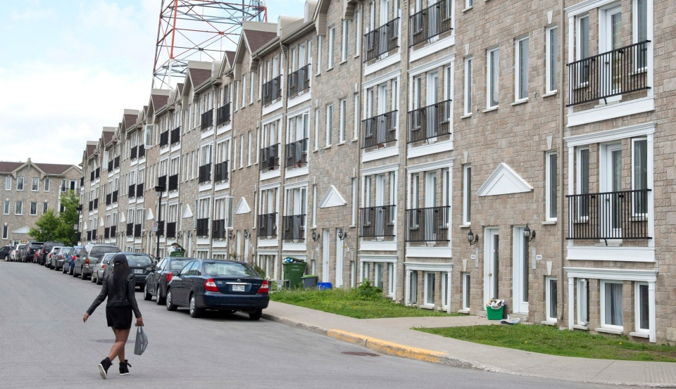 A condo complex is seen Monday, June 17, 2013 in Montreal.  THE CANADIAN PRESS/Paul Chiasson