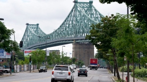 The Jacques Cartier Bridge is seen in this CP file photo.