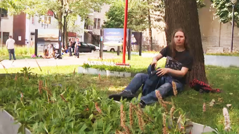 Francois Gendron was nailed with a $147 fine for sitting under a tree in a downtown Ville Marie borough park.
