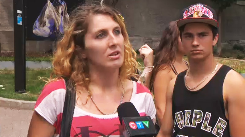 This young woman and several of her acquaintances told CTV Montreal that they are frequently targeted with fines for petty offences. (CTV Montreal August 1, 2013)