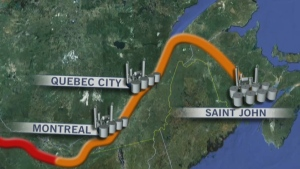 CTV News Channel: Energy East pipeline controversy