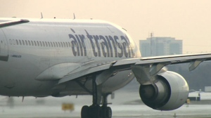FILE - An Air Transat plane is pictured in this file photo.