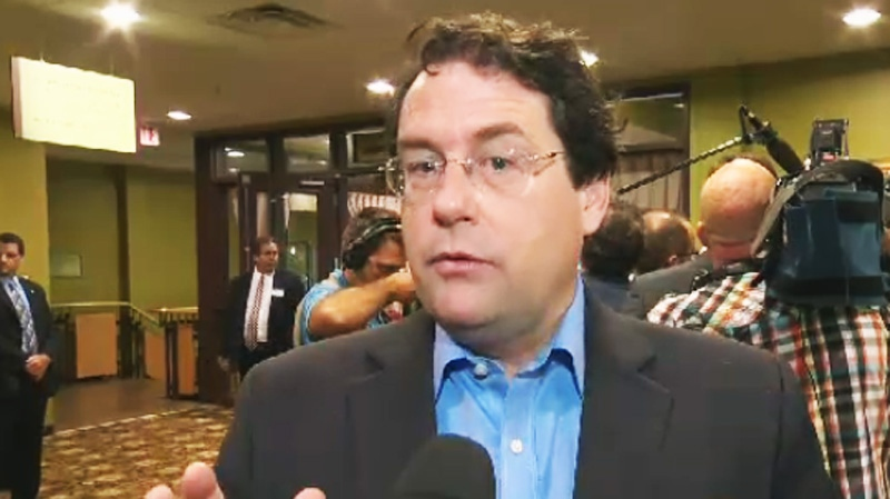 PQ MNA Bernard Drainville said he welcomes a debate on the secularism charter. (CTV Montreal Aug. 28, 2013)