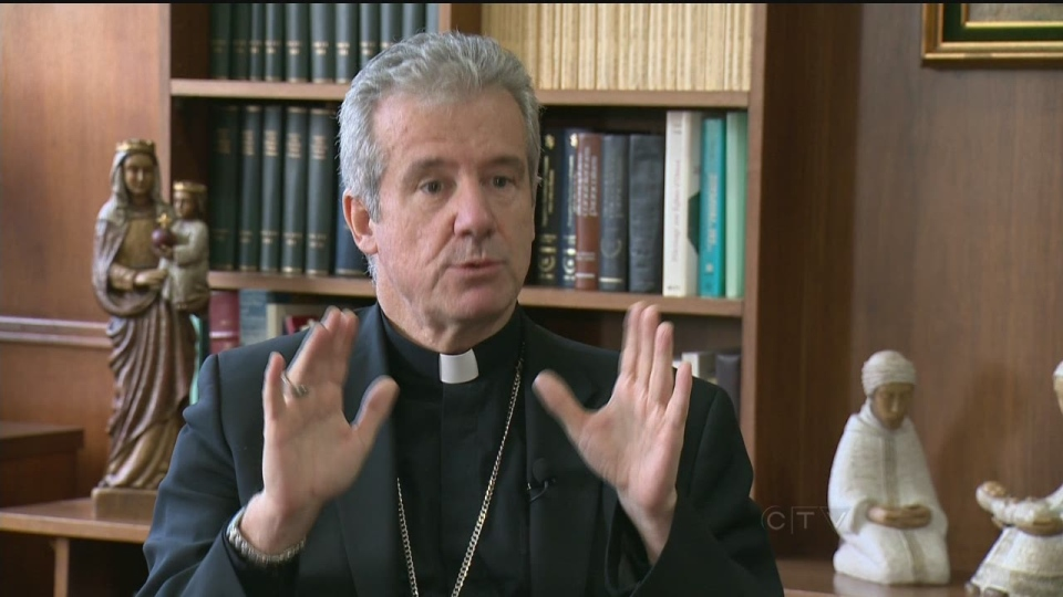 Archbishop Christian Lepine says the government should not limit religious expression.