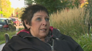 Linda Gauthier, a wheelchair user, is the president of the Regroupement des activistes pour l'inclusion au Quebec (RAPLIQ)