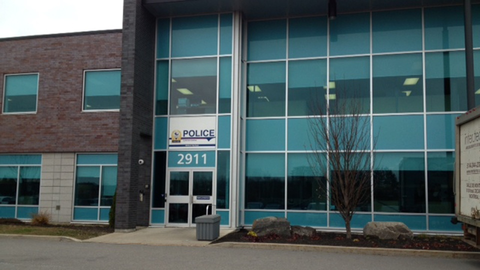 Police headquarters in Laval, where 10 teenagers were taken on Thursday Nov. 14, 2013 under suspicion of producing and distributing child pornography (CTV Montreal/Tania Krywiak)