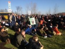 Protesters Oka