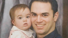 Guy Turcotte holds his daughter Anne-Sophie in an undated handout photo. (HO - Montreal La Presse / THE CANADIAN PRESS)