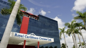 The offices of Royal Caribbean are pictured in Miami on July 27, 2006. (AP / Lynne Sladky)
