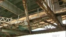 The underside of the Mercier Bridge (August 19, 2011)
