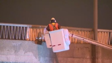 An engineer looks at the Henri Bourassa overpass o